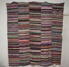 Japanese antique big sakiori textile of  folk art