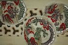 Japanese antique silk obi Dragon pattern in the meiji period