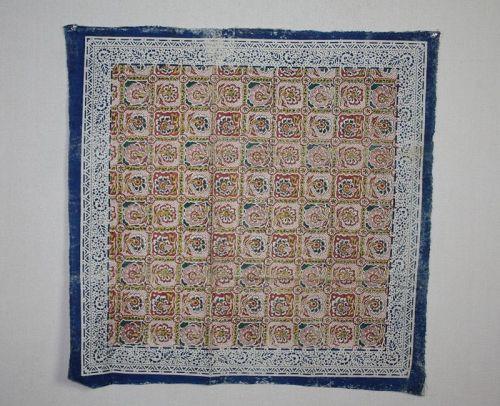 Japanese antique sakai sarasa cotton furoshiki textile edo era