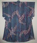 Japanese vintage beautiful silk hand shibori(Tie-dye) ro summer kimono