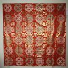 Japanese antique edo silk gold kinran big uchishiki textile
