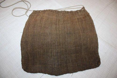 Japanese antique shina-fu kokumotubukuro bag textile of meiji era