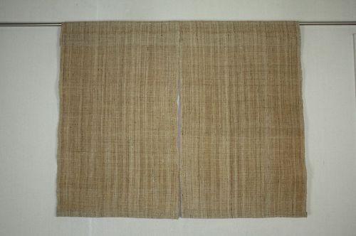 Japanese antique Thick Wisteria (Fuji-fu) noren textile of the taisyo