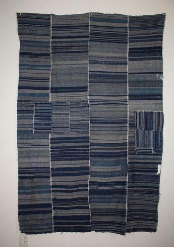 Japanese antique natural indigo dye zanshi cotton of futon cover