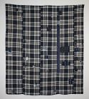 Japanese vintage indigo dye cotton boro  patched futon cover