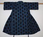 Japanese antique indigo dye cotton katazome child kimono of meiji