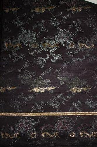 Japanese antique soft silk kinran gold weave maru obi edo era