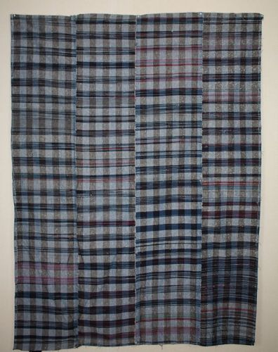 Japanese antique zanshi weaving bed cover of indigo day cotton ,silk