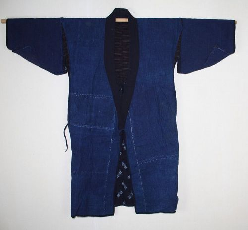 Japanese vintage indigo dye cotton & kasuri big norago jacket