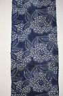 Japanese antique indigo dye and safflower dye katazome long fabric