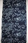 Japanese antique Thick handspun & natural  indigo dye katazome cotton