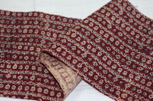 Japanese antique  akasarasa katazome fabric from the Edo period.