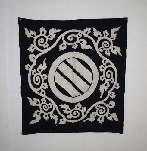 japanese antique indido dye Thick cotton tsutsugaki furoshiki