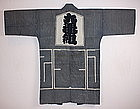 Japanese   taisyo fireman's   stripes hanten textile