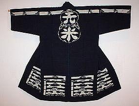 Old tsutsugaki textile  fireman's shirushi hanten Meiji