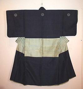 Japanese Edo noshime samurai shijira-ori kimono