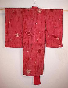 Rare Museum item hemp tie-dyeing shibori Child kimono