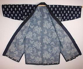 Meiji hirosaki shiroito-sashi sashiko noragi hanten