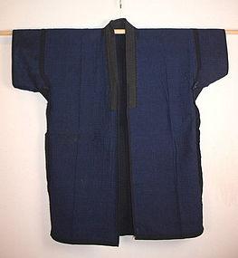 Meiji Indigo dye both sides sashiko  noragi hanten