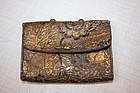 Jpanese edo antique Cigarette case with skin