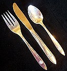 Pan Am Silver Plate Knife, Fork, Spoon PAA Exclusive