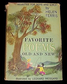 Favorite Poems Old and New by Helen Ferris, 1957