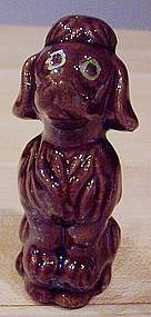 Ceramic Brown Poodle Figurine