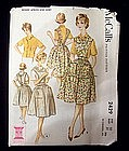 1960's McCall's Apron and Blouse Pattern Size 10