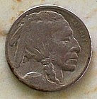 1913 Indian Head Buffalo Nickel Variety 1 Raised Ground