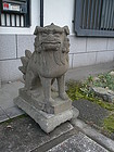Japan magnificent pair stone Shi Shi Komainu 18c.SOLD