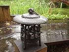 "Japan antique iron ""tea garden""  lantern"