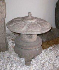 """Japanese antique Round """"yukimi"""" garden lantern"""