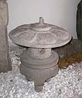 "Japanese antique ""yukimi"" garden lantern"