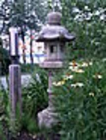 Japanese fine tall antique stone lantern