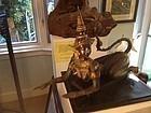 Thailand fine gilt bronze Kinnaris female myth figure