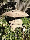 Japanese Classic Antique Yukimi  Stone Garden Lantern
