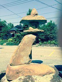 Japan Iris Garden Lantern Rankei
