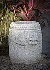 China antique marble garden drum stools, Qing dynasty