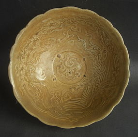 Rare Example Vietnamese Bowl with Dragon & Phoenix mtv