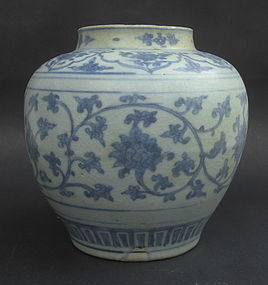 Ming Dynasty Blue & White Jar , 15th Century