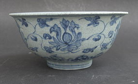 Ming Blua And White Bowl, 15th ~16th Century