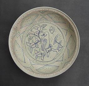 A Rare Vietnamese Large Dish,15th Century