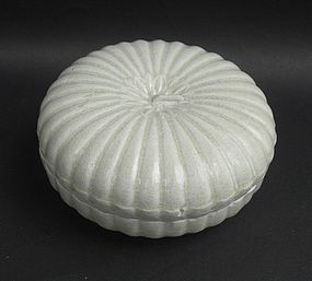 Song Dynasty Qingbai Covered Box,Melon Shape