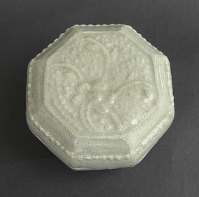 Octagonal Shape Qingbai Covered Box