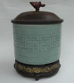 18th Century Celadon Glazed Tripod Incense Burner