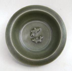 Longquan Celadon Twin Fish Small Dish