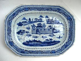 Qing Blue And White Export Plate