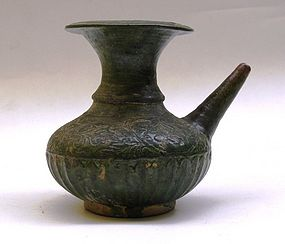 15th-16th Century Sancai Glaze Kendi With Flower Motive
