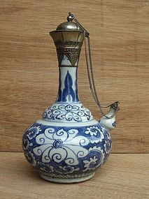 17th Century Blue And White Kendi