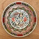 Kangxi Wucai Large Plate With Twin Phoenix